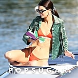 Kendall Jenner Relaxes in a Bikini on a Boat in Miami Photos