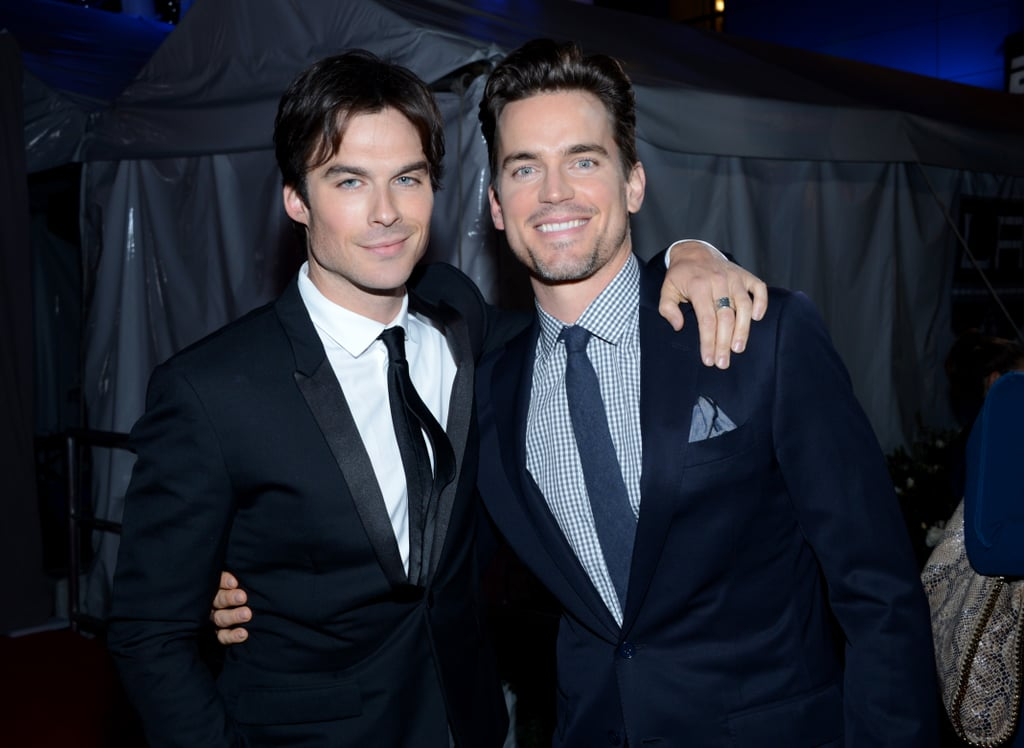 Matt Bomer snapped a photo with Ian Somerhalder at the People's Choice Awards.