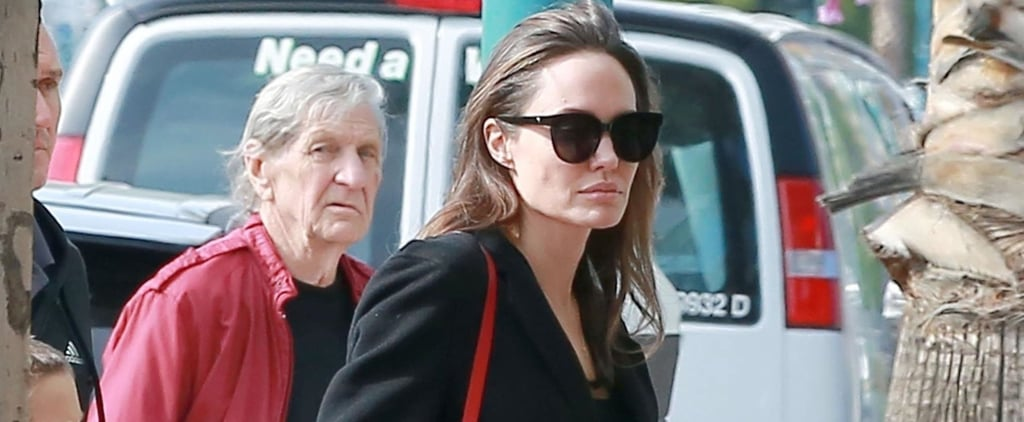 Angelina Jolie Red Bag Strap