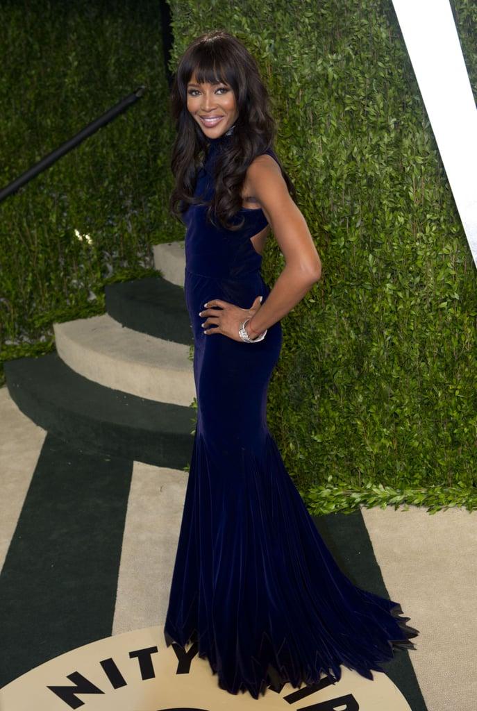 Naomi Campbell arrived at the Vanity Fair Oscar party.