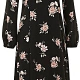 Topshop Long Sleeve Floral Midi Dress by Nobody's Child