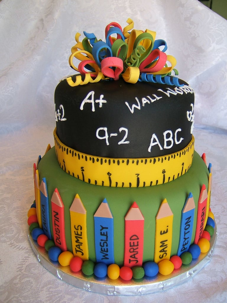 A School-Themed Cake