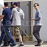 Tobey Maguire took a private plane in Australia.
