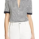 Frame Stripe Linen Top