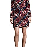 Trina Turk Janny Plaid Print Silk Dress