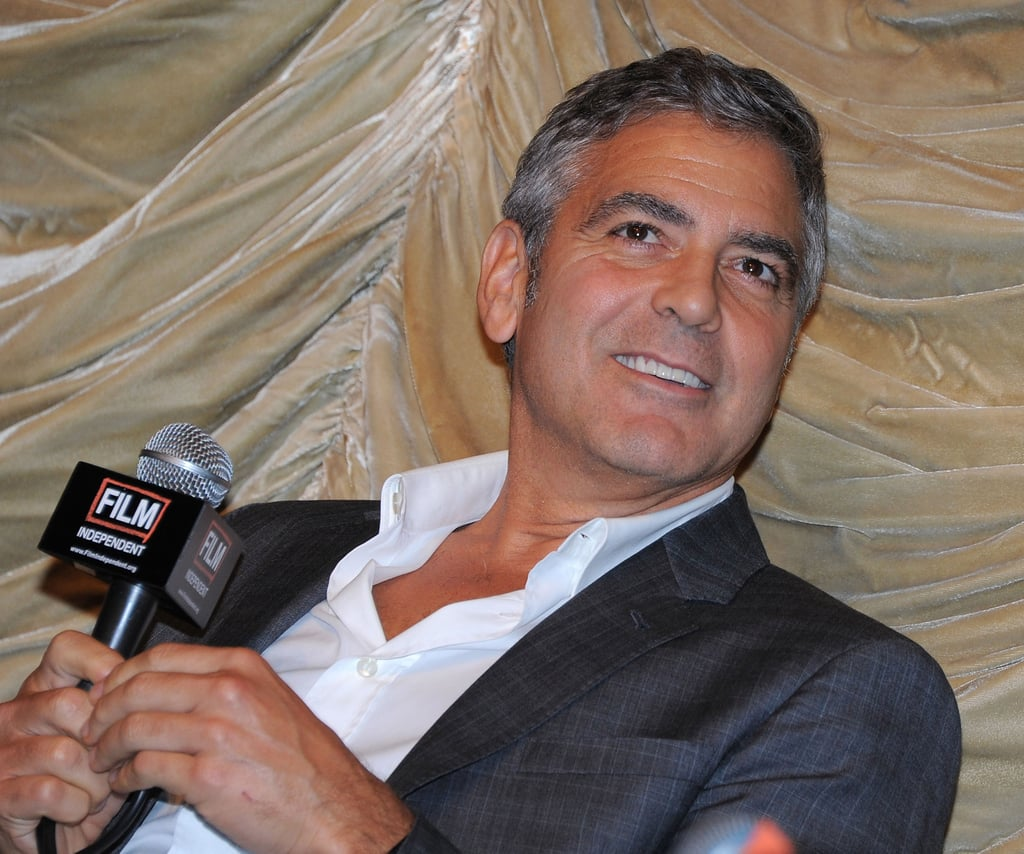 George Clooney took it easy at a Q&A.