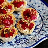 Mini Beet, Goat Cheese, and Pistachio Phyllo Cups