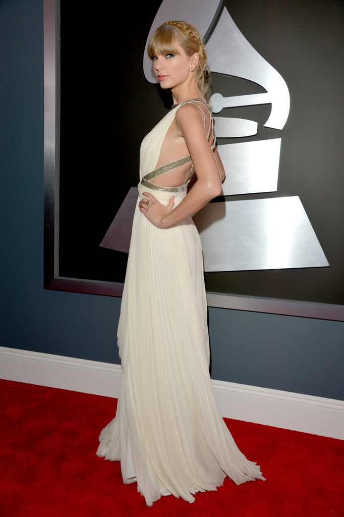 Taylor Swift wore J. Mendel.