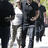 Emily Blunt and John Krasinski enjoyed some sunlight while walking in West Hollywood.