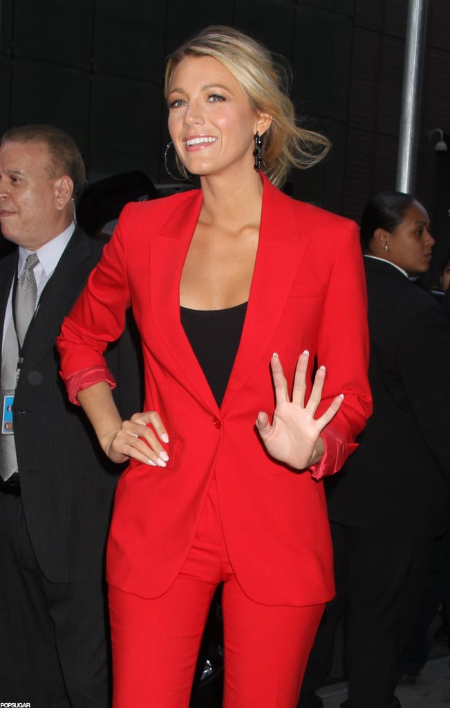 Blake Lively waved to fans.