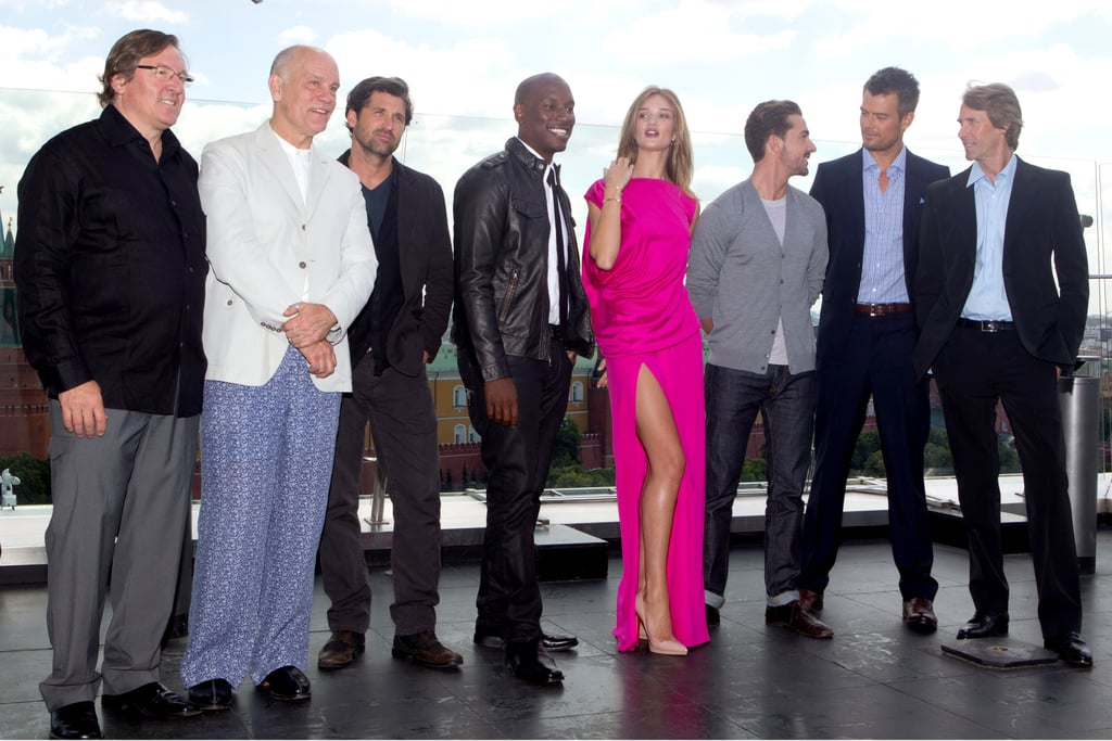 Patrick Dempsey joined Transformers: Dark of the Moon costars Rosie Huntington-Whiteley, Shia LaBeouf, and Josh Duhamel in Moscow.