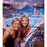 Jenna Bush Hager watched Olympic swimming.  Source: Twitter user JennaBushHager