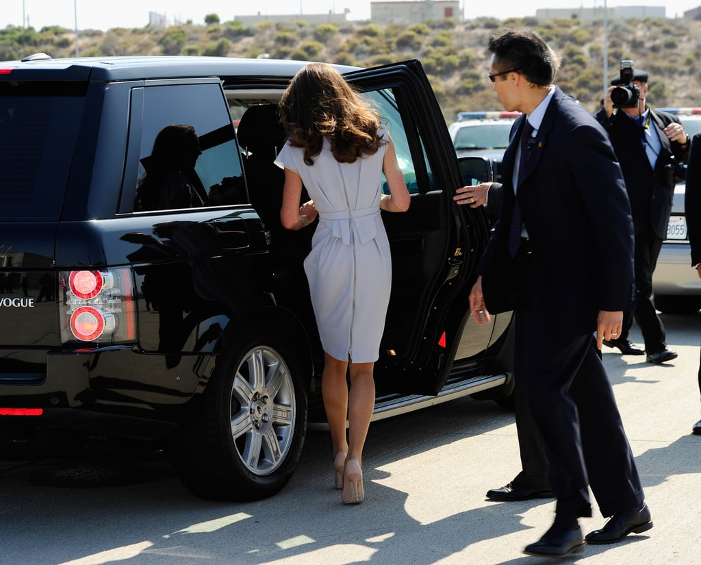 Kate Middleton arrives at LAX.