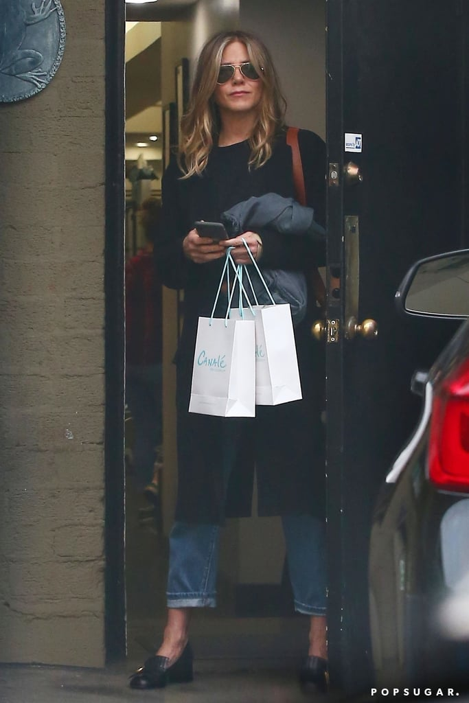 Jennifer Aniston Gucci Loafers