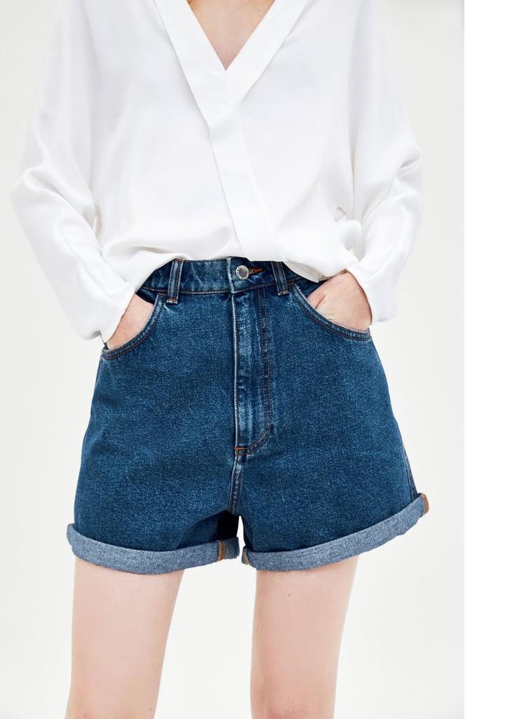 d0849f1b52 Kendall Jenner's Black Jean Shorts August 2018 | POPSUGAR Fashion