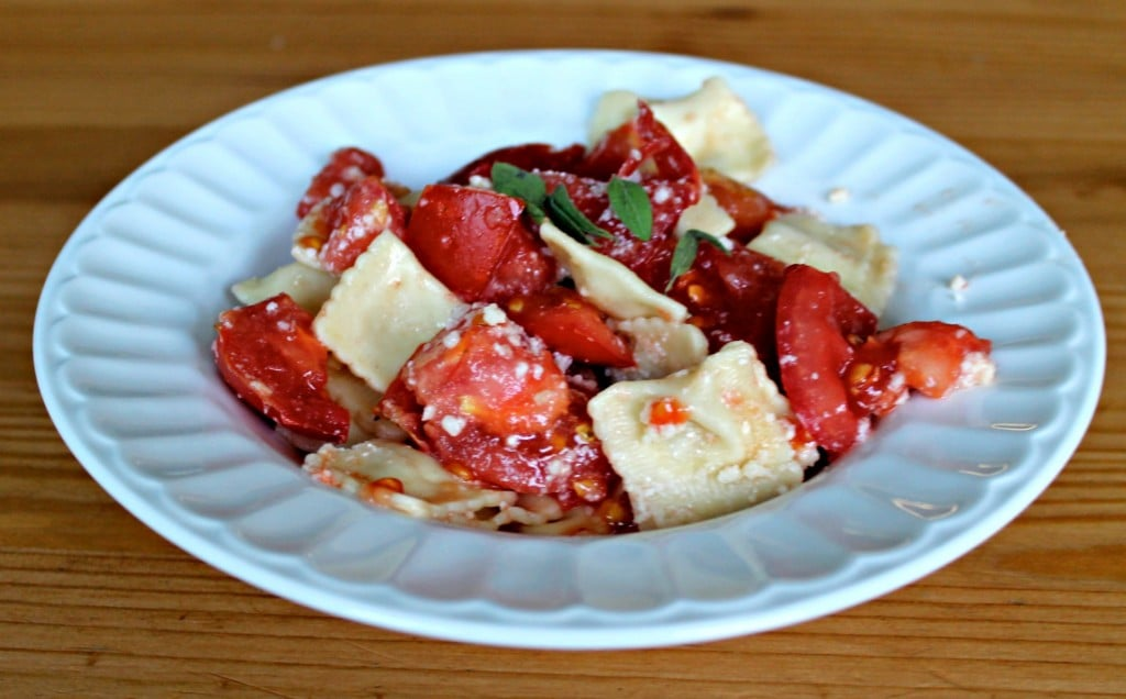 Mini Ravioli With Fresh Tomatoes
