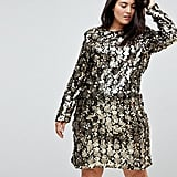 Unique 21 Hero Trophy Dress In All Over Mixed Sequin