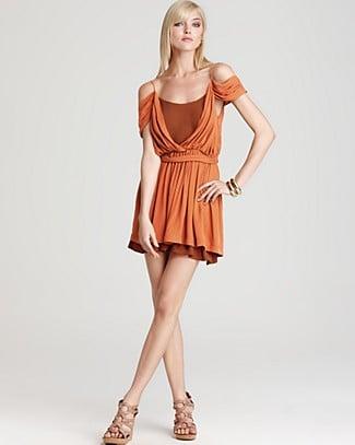Joie Leslie Off-Shoulder Silk Dress ($368)