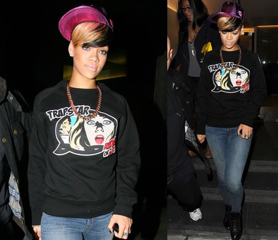 Pictures of Rihanna Partying in London