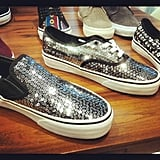We got a sneak peek of the glitzy sneakers to come at Vans.