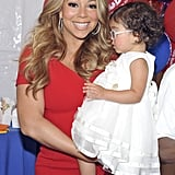Mariah Carey gave Monroe Cannon a lift.