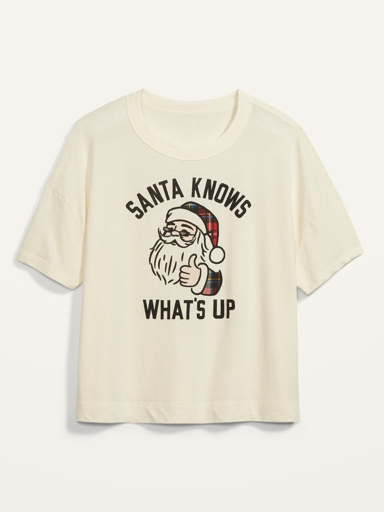 Loose-Fit Christmas Graphic Easy Tee