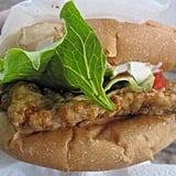 There's no better beach eats than a fried fish sandwich smothered with mayonnaise and hot sauce.