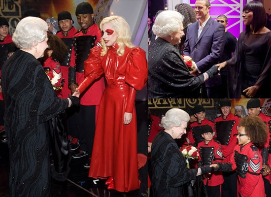 Photos of the Queen Meeting Lady GaGa, Diversity, Alexandra Burke, Miley Cyrus at Royal Variety Performance 2009