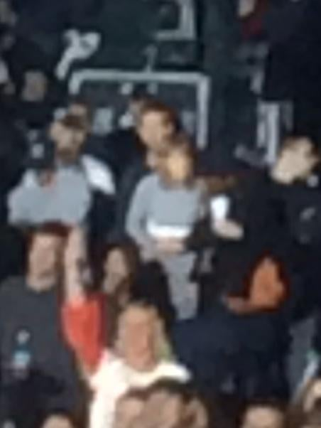 In one very blurry photo, it looks like Calvin may have his arms around Taylor at the show.
