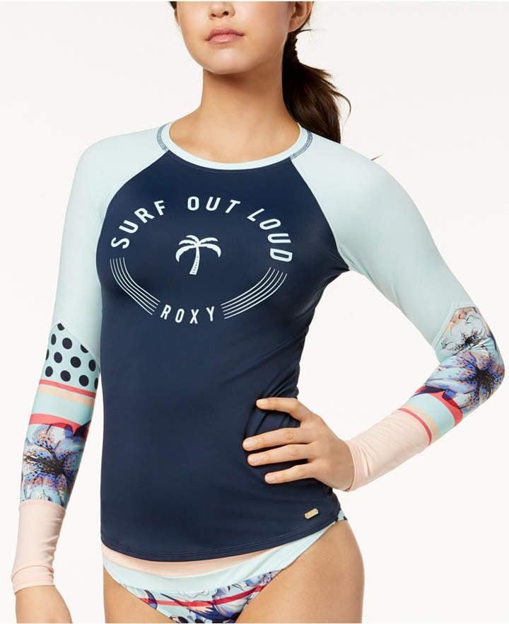 e54d7c55 Roxy Pop Surf Graphic Rash Guard Women's Swimsuit | Best Rash Guard ...