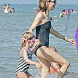 Sofia Coppola Hits the Beach in a Bathing Suit With Her Babies Just Days Before Her Wedding