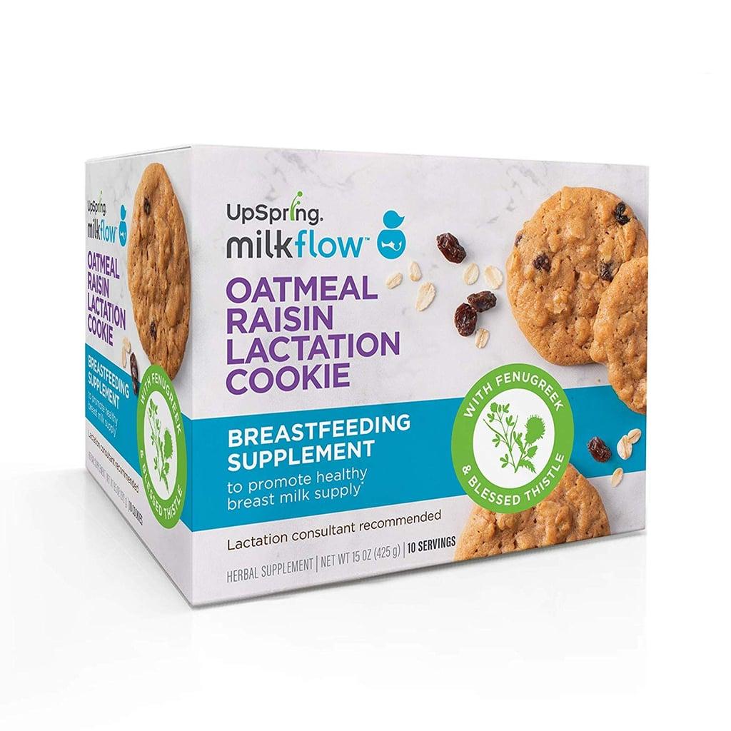UpSpring Milkflow Fenugreek and Blessed Thistle Lactation Cookies Oatmeal Raisin