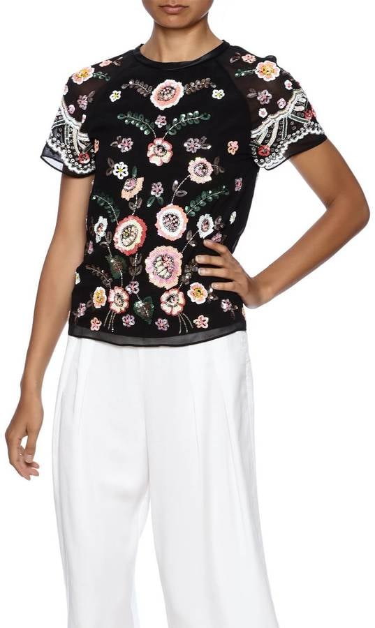 Needle & Thread Sequin Floral Blouse