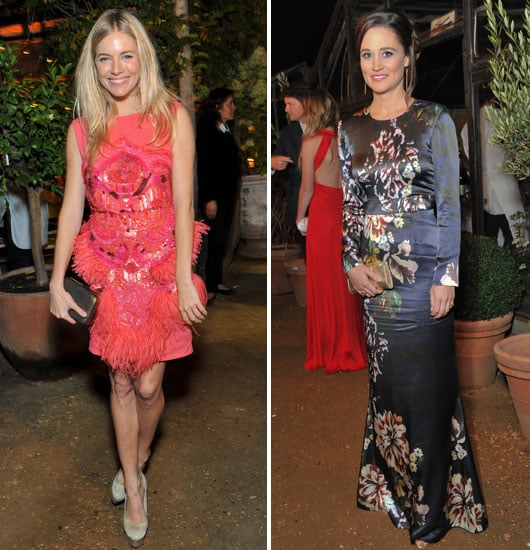 Sienna Miller and Pippa Middleton at All Saints Party