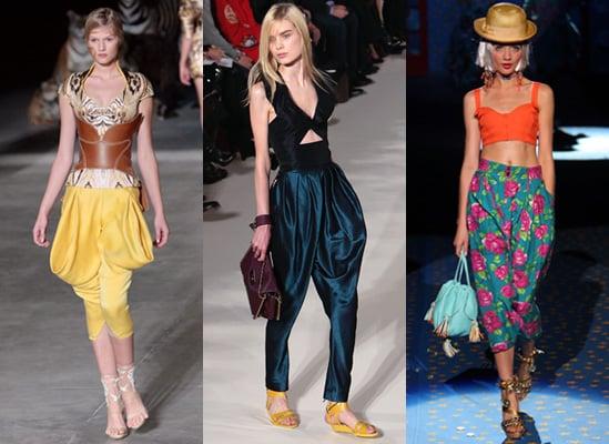 Spring 2009 Trend Harem Pants, Chloe, Alexander McQueen, Betsey Johnson