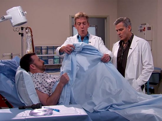 VIDEO: George Clooney and Hugh Laurie Perform CPR Using Lyrics From 'Rapper's Delight' in E.R., House Mashup