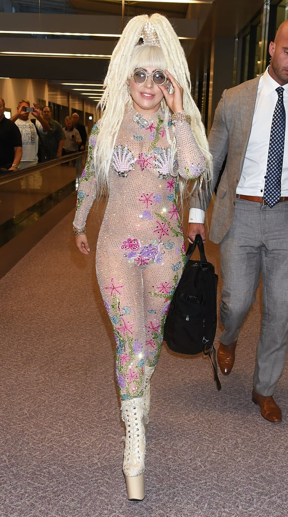 Lady Gaga Casually Arriving in Tokyo