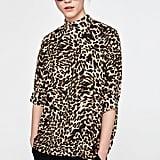 Zara Printed High Neck Top