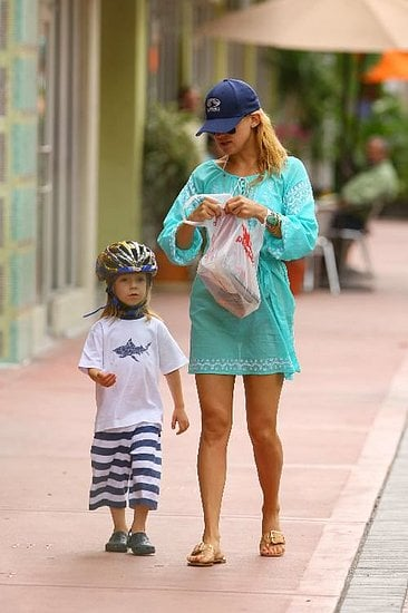 Kate and her main man, Ryder biked around Miami.