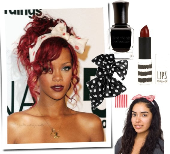 How to Get Rihanna's Polka Dot Hair Bow Beauty Look