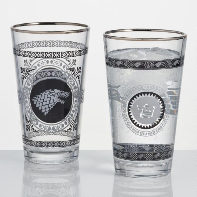 World Market Game of Thrones Stark Pub Glasses
