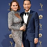 John Legend and Chrissy Teigen at the 2018 Emmys