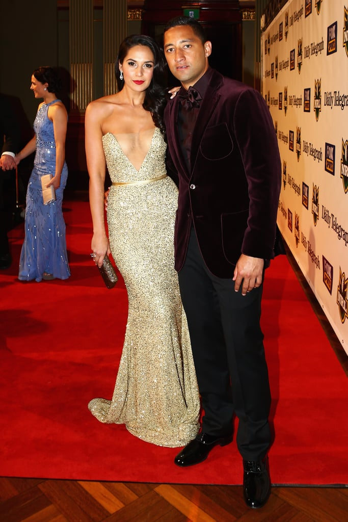 TV presenter Zoe Balbi with her fiancé, West Tigers player Benji Marshall.