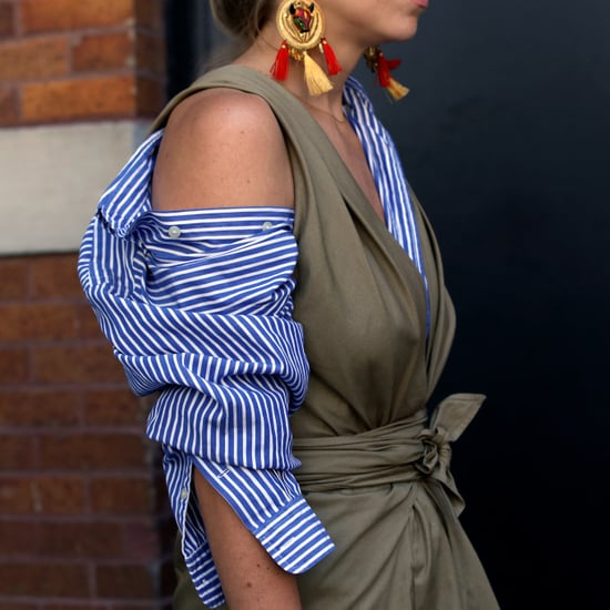 How to Style Your Button-Down as an Off-the-Shoulder Top