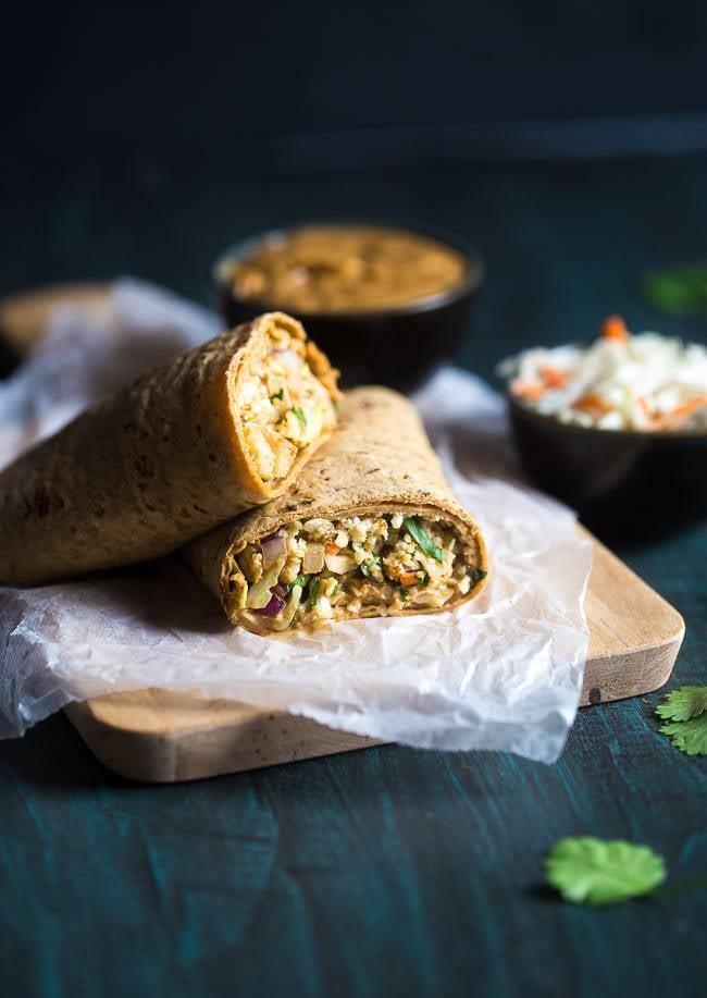 Thai Salad and Cauliflower Rice Wrap