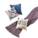 Throw Pillows ($30-40) and Chenille Throw ($40)