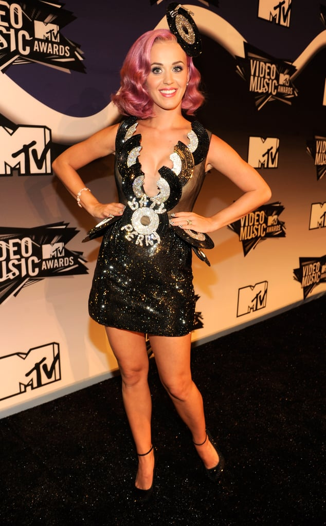 Katy Perry hit the black carpet.