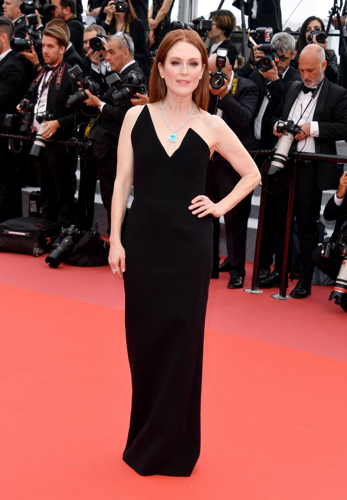 Julianne wore a Saint Laurent column dress to the screening of Yomeddine.