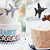 Big and Mini Airplane Cakes