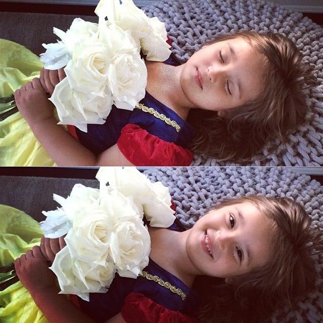 Arabella Kushner did her best Snow White impression —complete with big roses! Source: Instagram user ivankatrump